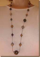 L.A. Oppitz Designs long stone necklace
