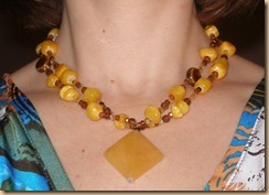 L.A. Oppitz Designs yellow necklace