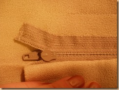 RF zipper handwork