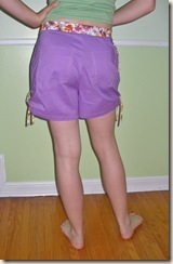 purple shorts back