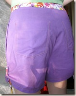 purple shorts detail