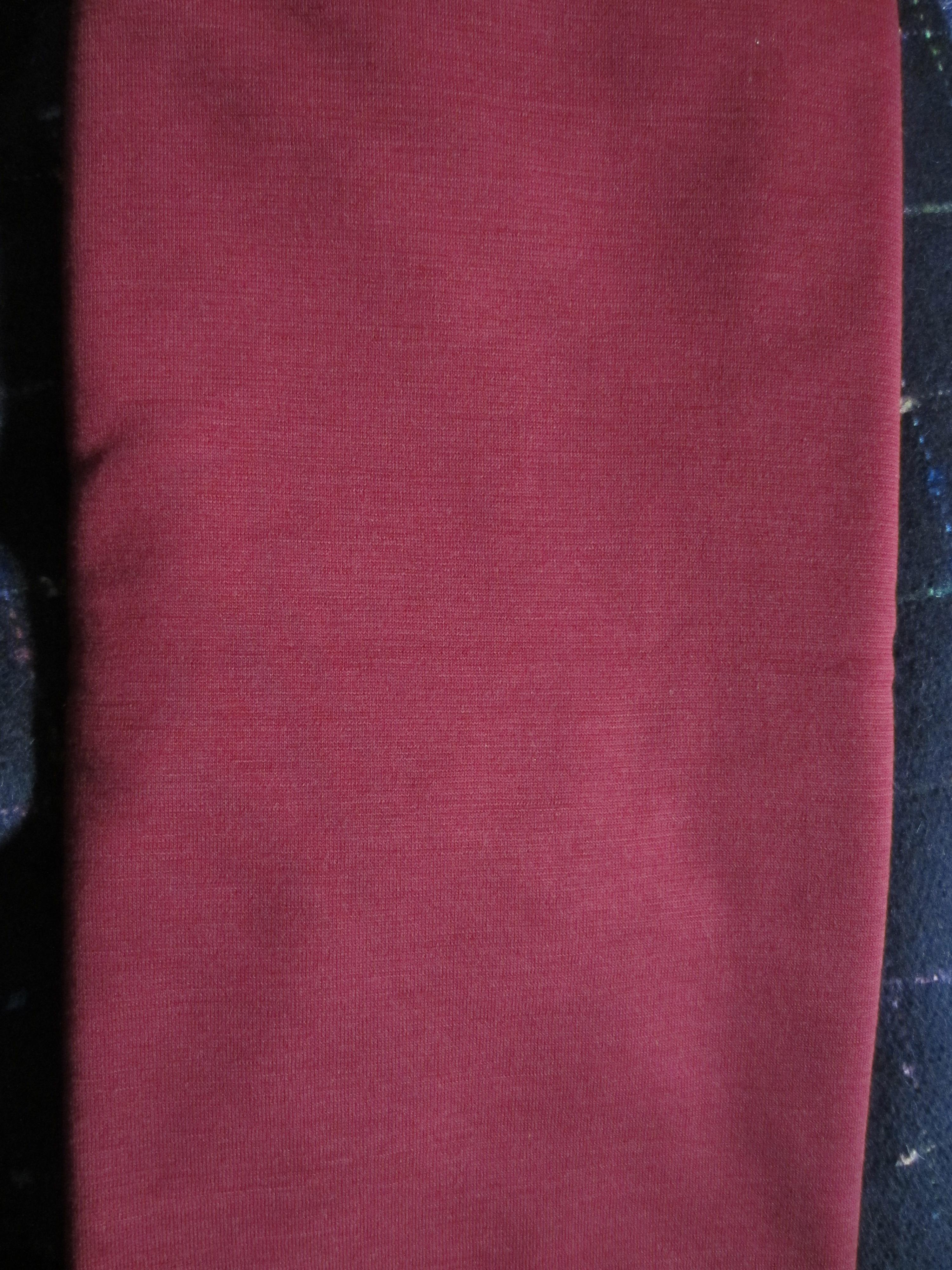red wool doubleknit