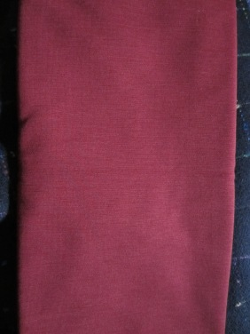 red wool doubleknit