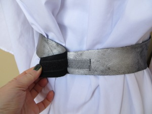 Leia leather belt velcro