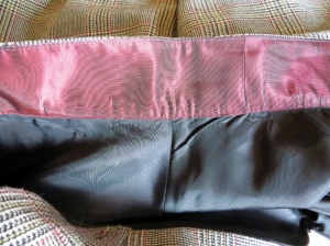 red taffeta waistband