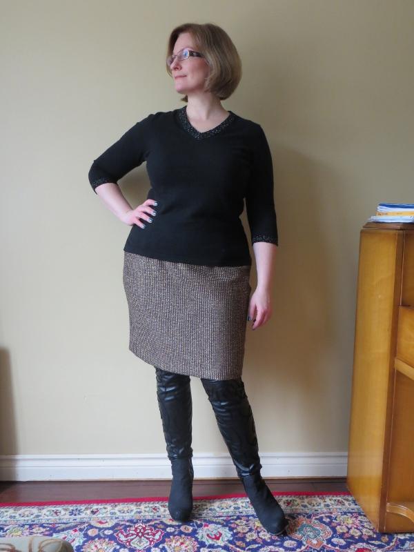 lurex tweed