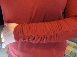 ruched sleeves