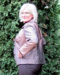 croc metallic jacket